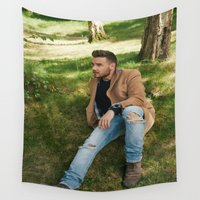 liam payne Wall Tapestries featuring Liam Payne by behindthenoise
