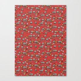 Skellie Pattern Canvas Print