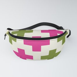 Pink Green Cross Fanny Pack
