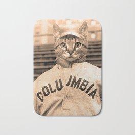 Baseball Kitten #2 Bath Mat