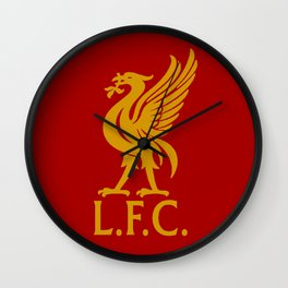 LFC Red Gold Logo Wall Clock