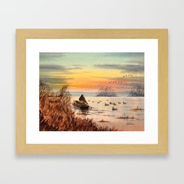 A Great Day For Hunting Ducks Framed Art Print
