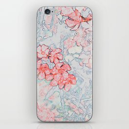Spring Red Flowers iPhone Skin
