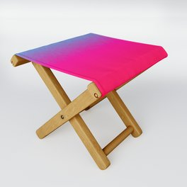 Blue purple and pink ombre flames Folding Stool