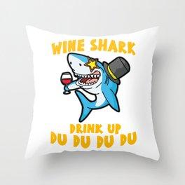 WINE SHARK redwine white grape merlot rice wine Throw Pillow