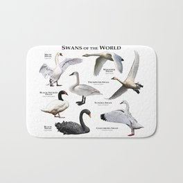 Swans of the World Bath Mat