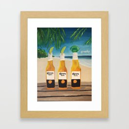Greedy - Corona Ad Painting Framed Art Print