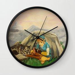 Sidetracked Wall Clock