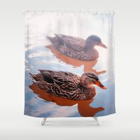 duck Shower Curtains featuring Duck by DistinctyDesign