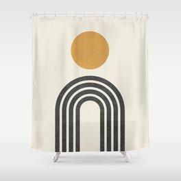 Mid century modern gold Shower Curtain