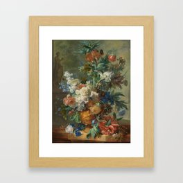 Jan van Huysum - Still life with flowers (1723) Framed Art Print