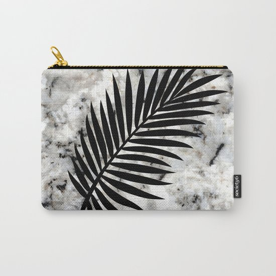 Tropical Leaves on Marble - Palm by fancyashelltees
