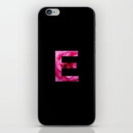 Pink Rose E iPhone Skin