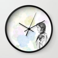 pride and prejudice Wall Clocks featuring Pride and Prejudice by Wadart