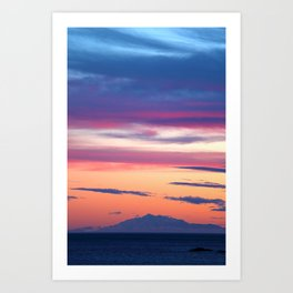 South Coast Sunset Art Print