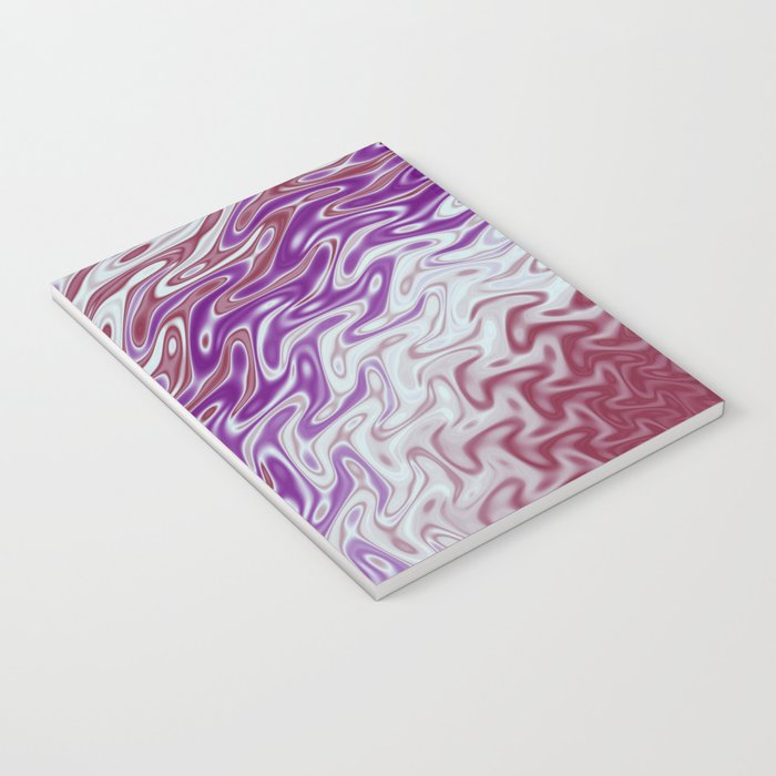 Fractal Rise in Pinks and Purples Notebook