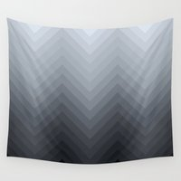 herringbone Wall Tapestries featuring Herringbone by Pure