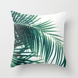 Palm Leaves Green Vibes #6 #tropical #decor #art #society6 Throw Pillow
