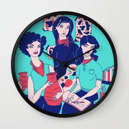 Women Artists (Creative Outlaws) Wall Clock