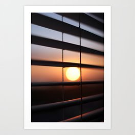 Sunrise Through Shades - 2 Art Print