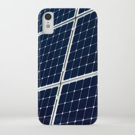 Image Of A Photovoltaic Solar Battery. Free Clean Energy For Everyone iPhone Case