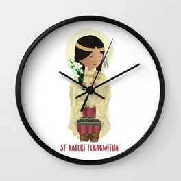 St Kateri Tekakwitha Wall Clock