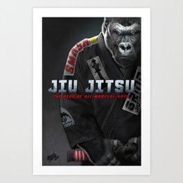 Jiu Jitsu is King Art Print