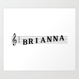 Name Brianna Art Print