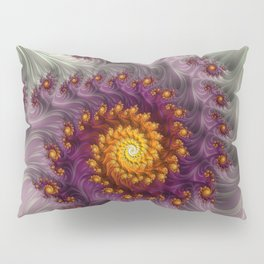 Saffron Frosting - Fractal Art Pillow Sham
