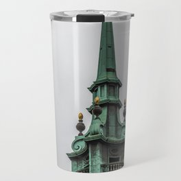 Steeple of All Hallows by the Tower Anglican Church near Tower of London England Travel Mug