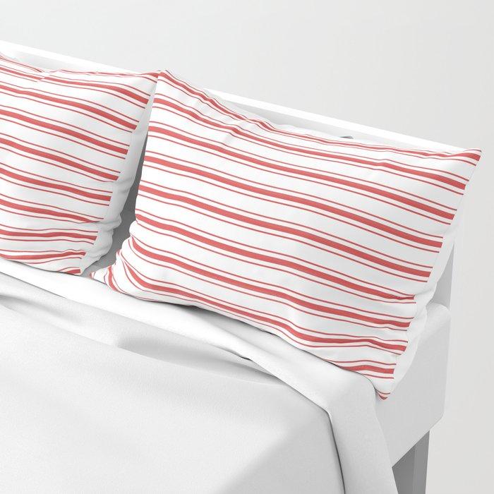 mattress pattern. Mattress Pattern. Fine Ticking Wide Striped Pattern In Red And White Pillow Sham