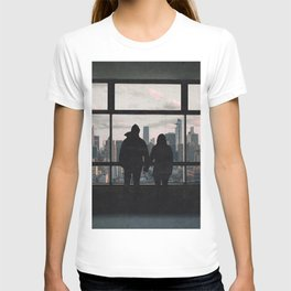 Manhattan Views-New York City Skyline and Couple T-shirt