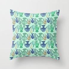 Persian Pots Throw Pillow
