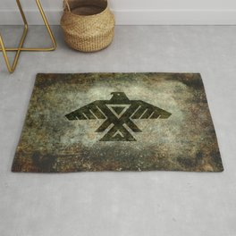 Thunderbird flag - Vintage grunge version Rug