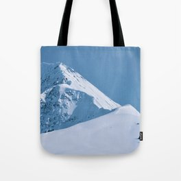 Winter Mountains in Glacier Blue - Alaska Tote Bag