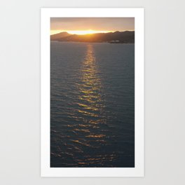 Roatan Sunset Departure Art Print