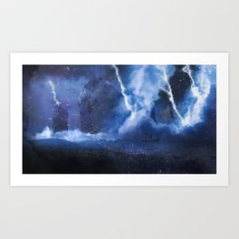 Fire on the Mound - Tempest Art Print