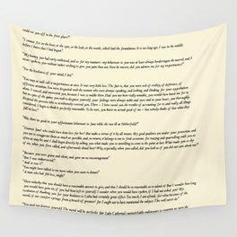 Pride and Prejudice Jane Austen antique white Wall Tapestry