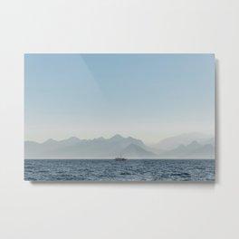 Boat in Antalya, Turkey Metal Print