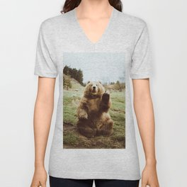 Hi Bear Unisex V-Neck