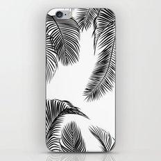 Black palm tree leaves pattern iPhone & iPod Skin