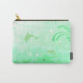 Dolphins Swimming Carry-All Pouch