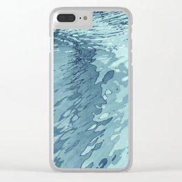 Aqua Shoreline Clear iPhone Case