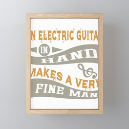 Electric Guitar in Hand Framed Mini Art Print
