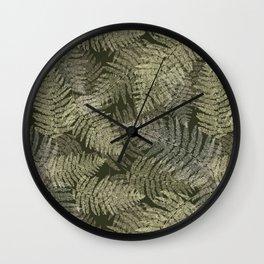 Fern Linear Leaves Wall Clock
