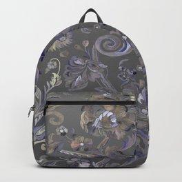Painted Tibetan Brocade grey Backpack