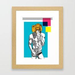 Selfie Status Framed Art Print