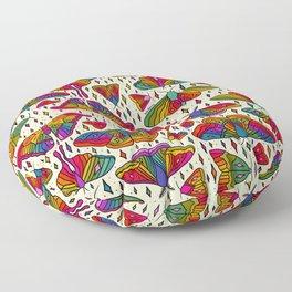 Rainbow Moth Print Floor Pillow
