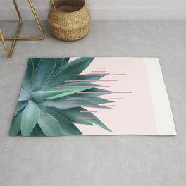 Agave geometrics II - pink Rug