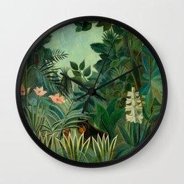 "Henri Rousseau ""The Equatorial Jungle"" Wall Clock"